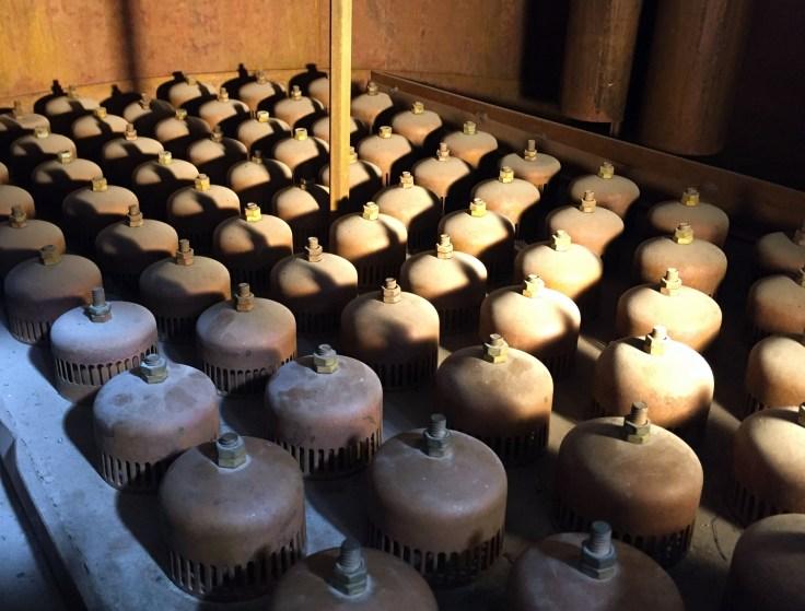 Four Roses distillery bubble caps