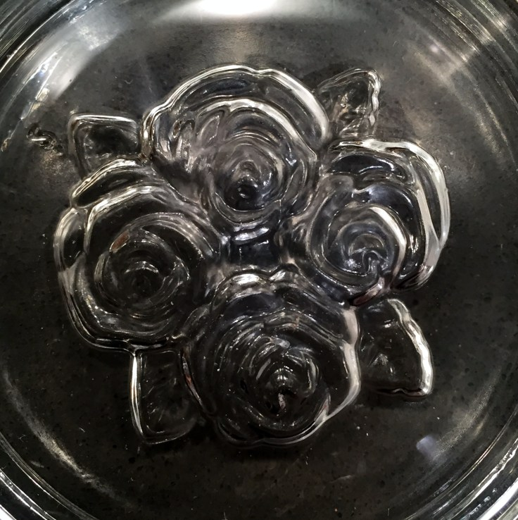 Bottom of Four Roses tasting glass