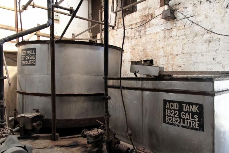 Wash room at Long Pond distillery