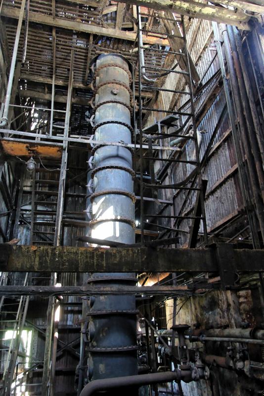 Column still at Long Pond distillery
