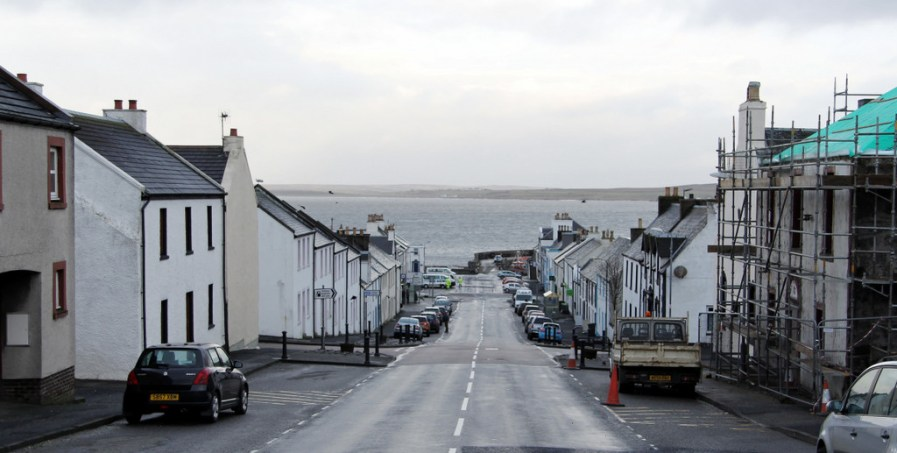 The town of Bowmore, on Islay
