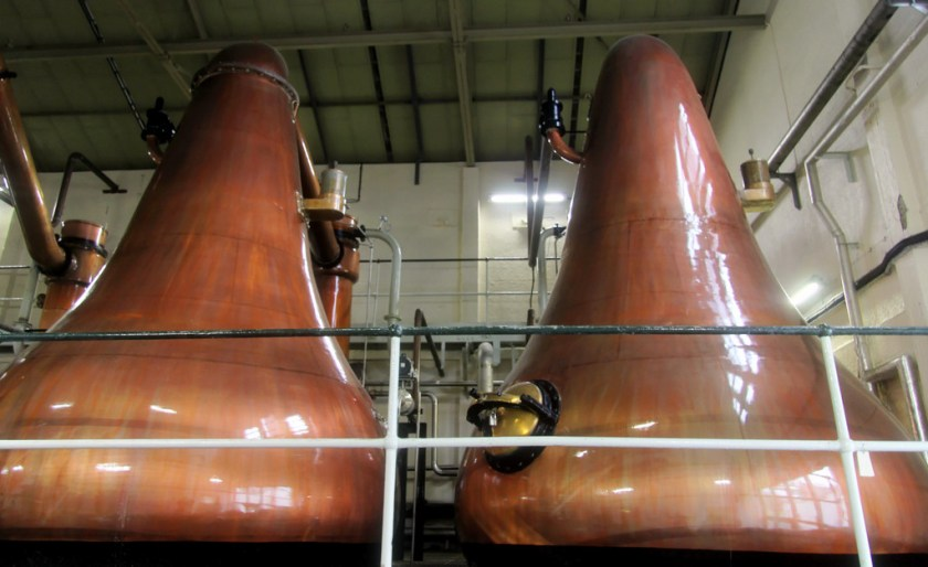 Pear shaped spirit stills at Lagavulin