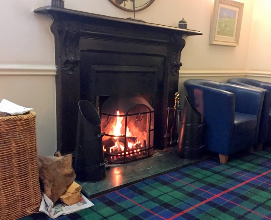 It's hard to argue with a fire in your hotel dining room