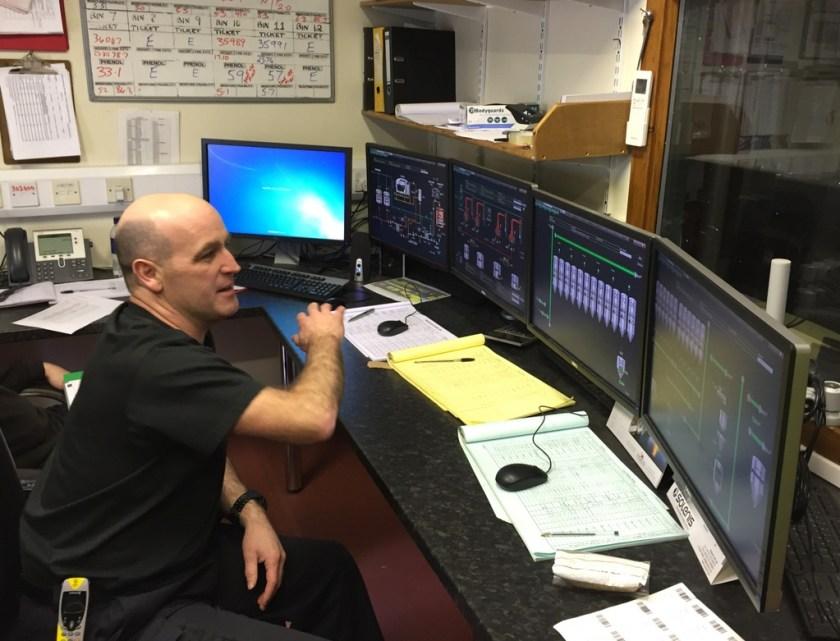 Control room at Lagavulin