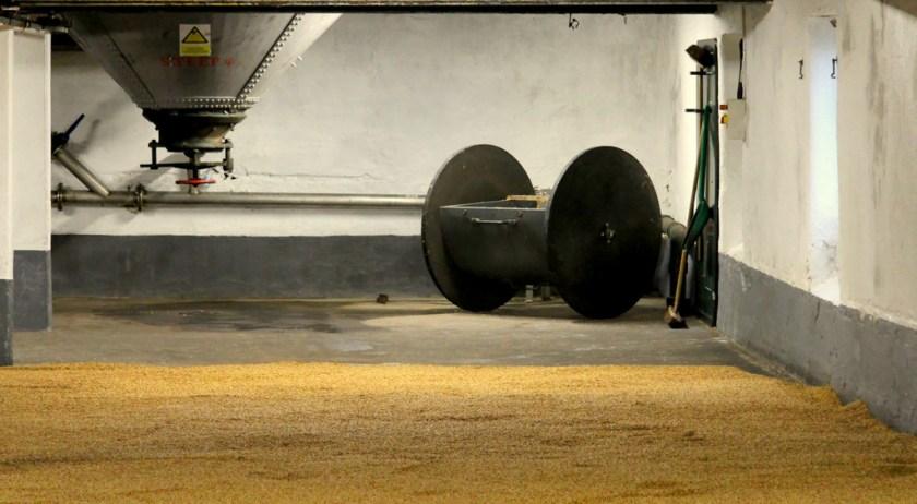 Malt floor at Laphroaig distillery