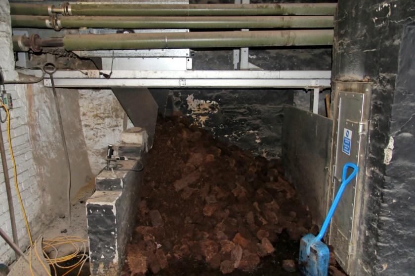 Peat at Laphroaig distillery
