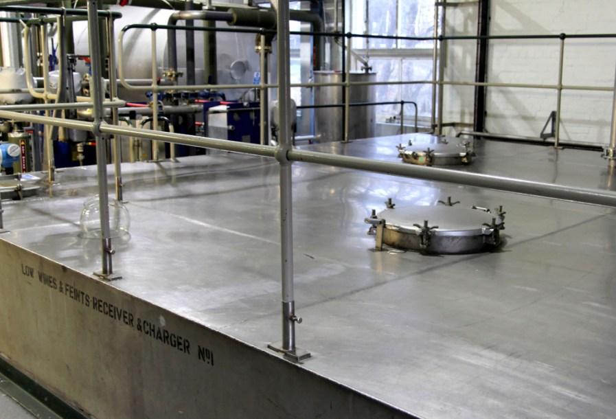 Distillation tanks at Laphroaig distillery