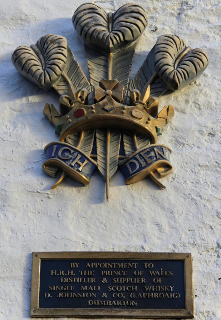 Royal Arms at Laphroaig distillery
