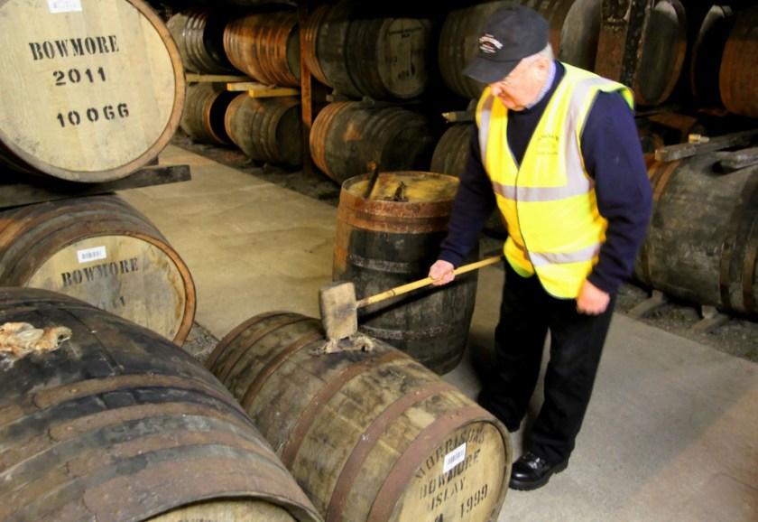 Eddie MacAffer in No. 1 Vault, Bowmore distillery