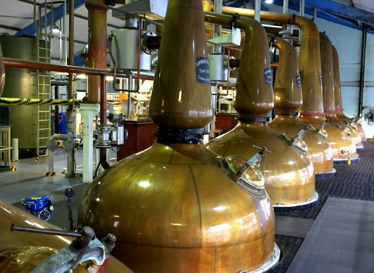 Pot stills at Laphroaig distillery