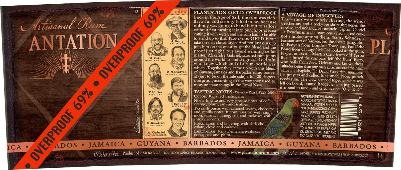Plantation Rum OFTD Overproof