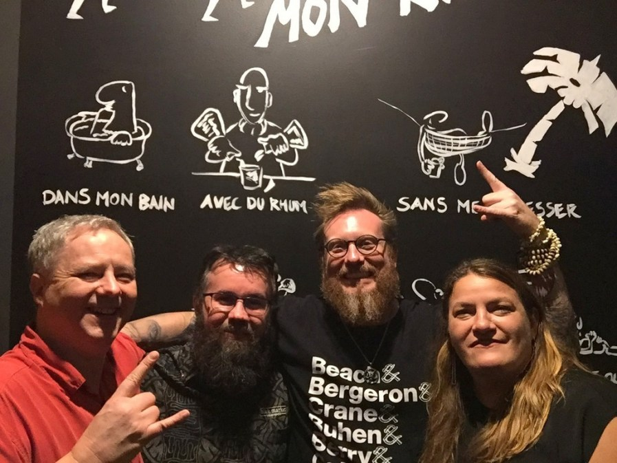 Cocktail Wonk, Chris Coy, Ed Rudisell, Mrs. Wonk at Black Market, Indianapolis