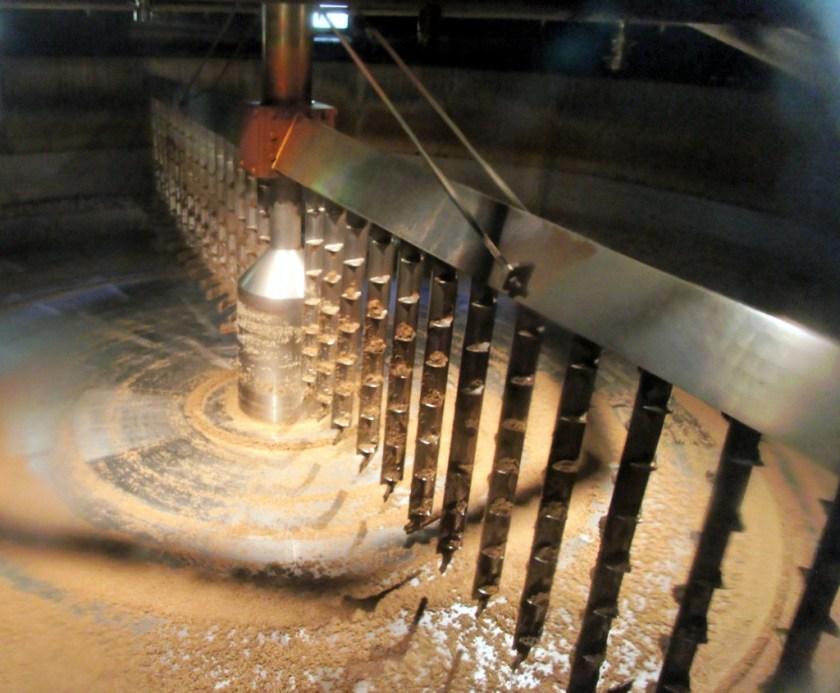Mash tun interior, Glenfiddich Distillery