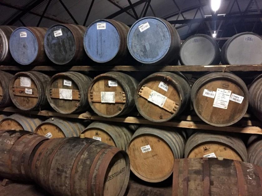 Barrels at Bruichladdich