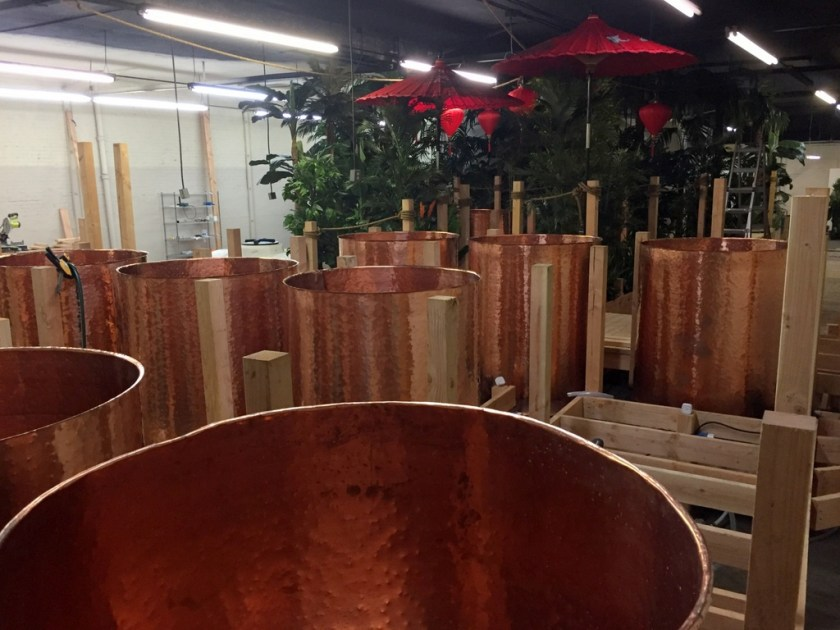 Fermentation tanks at the new Lost Spirits distillery in Los Angeles