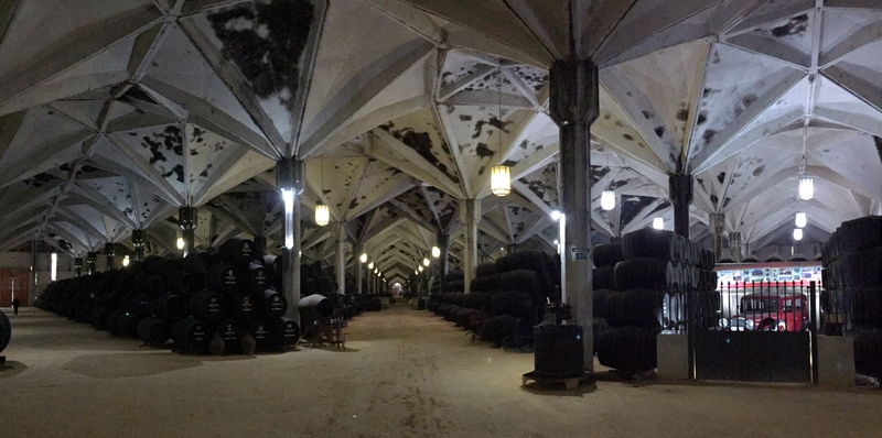 Enormous Williams & Humbert bodega in Jerez de la Frontera