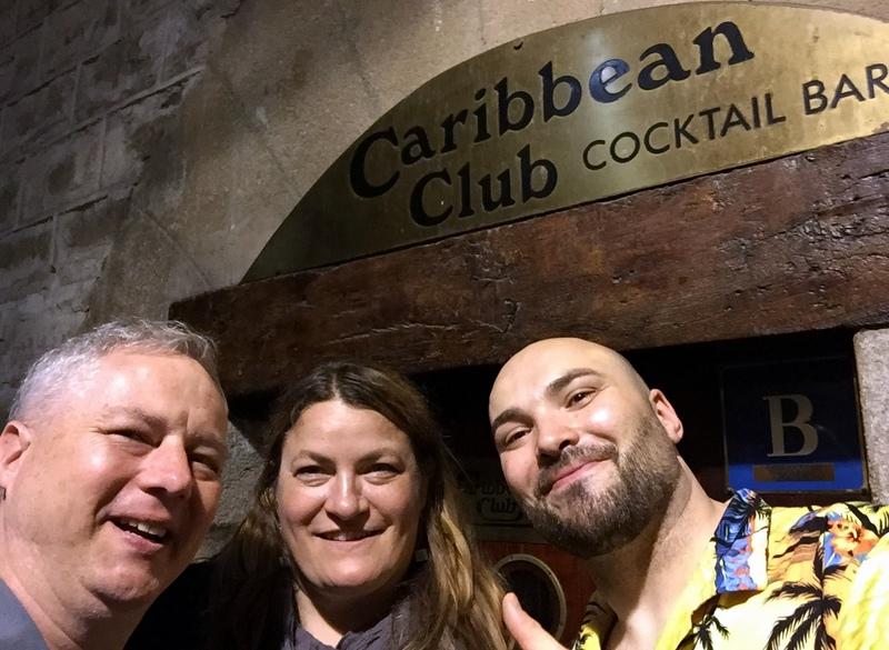 Cocktail Wonk, Mrs. Wonk and Oriol Elias, Caribbean Club, Barcelona