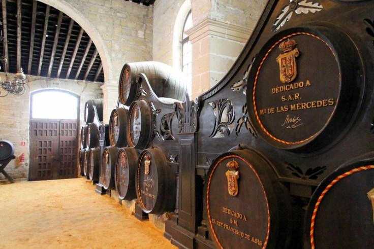 Spanish royal family casks at González Byass