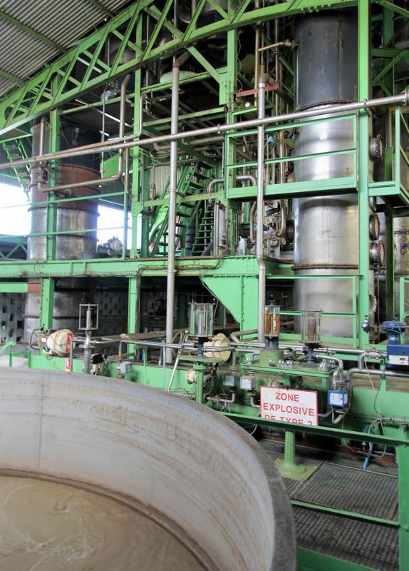 Ferment tank and column stills, Simon distillery, Martinique