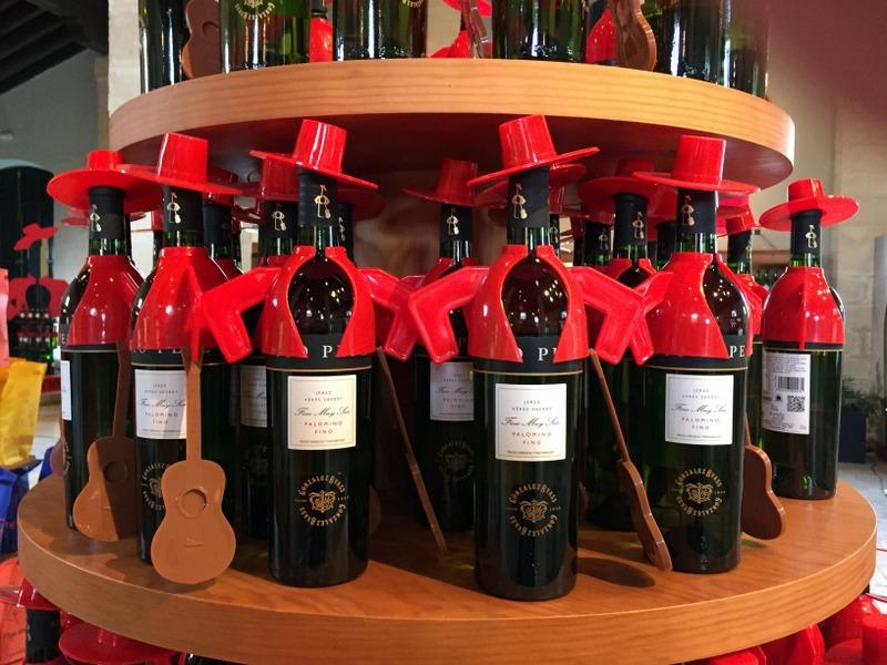 Tio Pepe bottles, González Byass gift shop