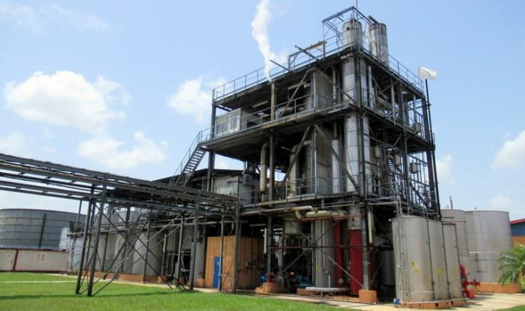 Fermentation and distillation core, Havana Club San José distillery