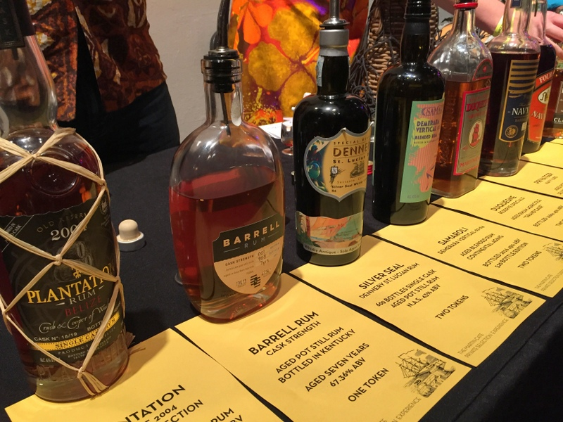 Rums from Martin Cate's collection, California Rum Festival 2017
