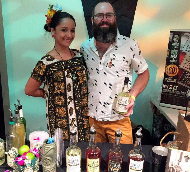 Maritza Rocha-Alvarez and Nathan Hazard, repping Real McCoy, California Rum Festival 2017