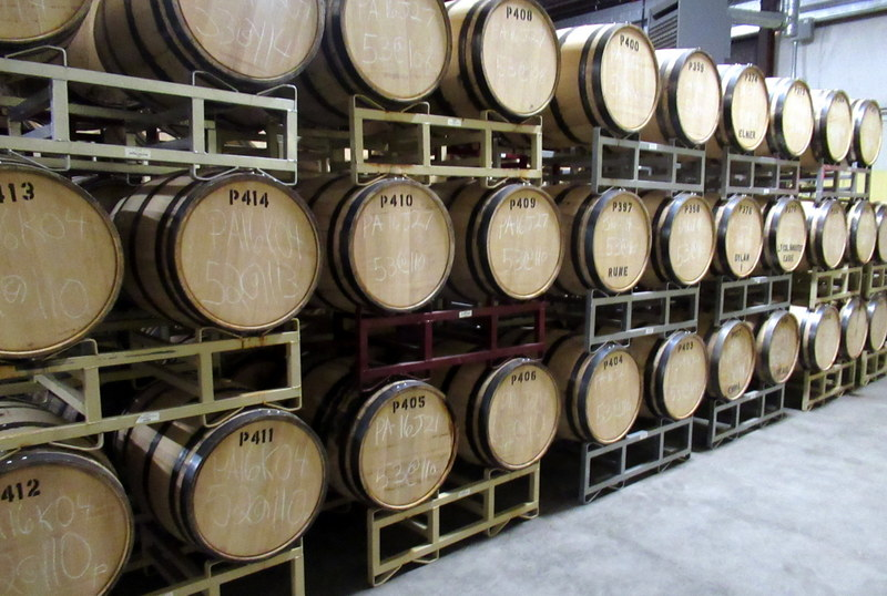 Rum aging at Privateer Rum.