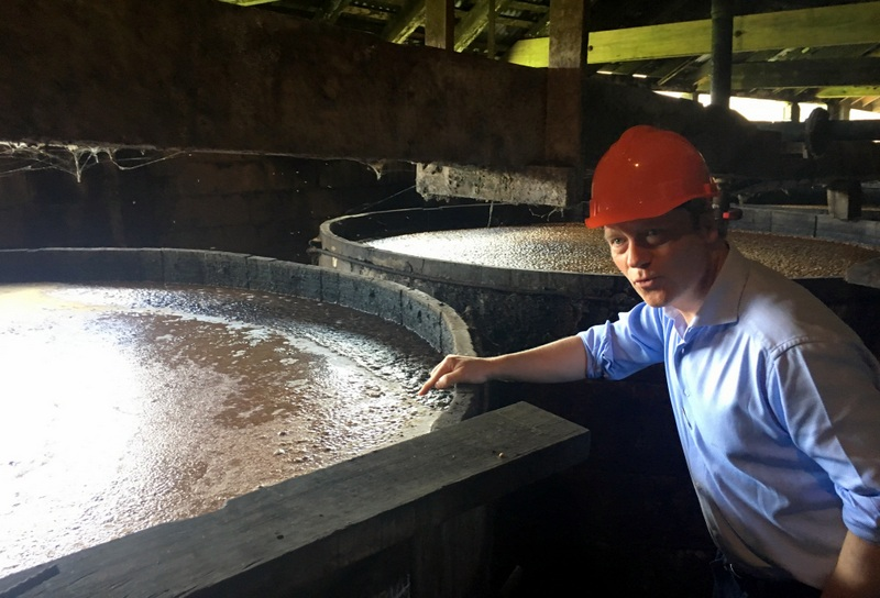 Molasses fermenting, Alexandre Gabriel, Long Pond, Jamaica. Photo credit: Maison Ferrand
