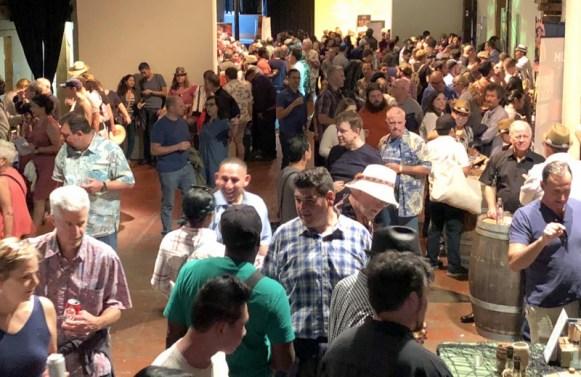 A busy show floor!