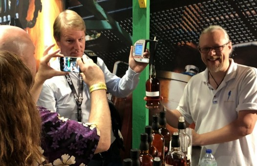 UK RumFest 2018 - Johnny Drejer measuring sugar content in a Foursquare rum sample