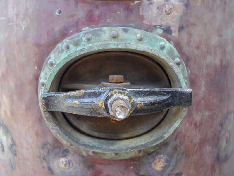 Mount Gay distillery column still door