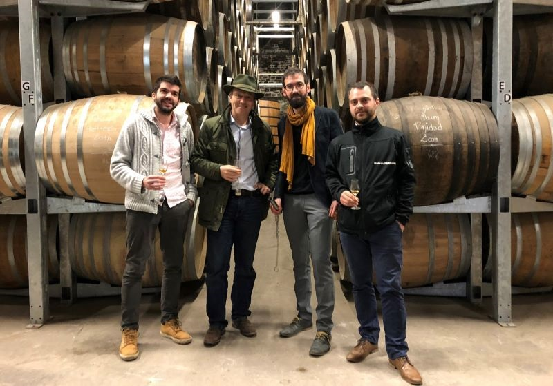 In the Maison Ferrand aging warehouse in Cognac