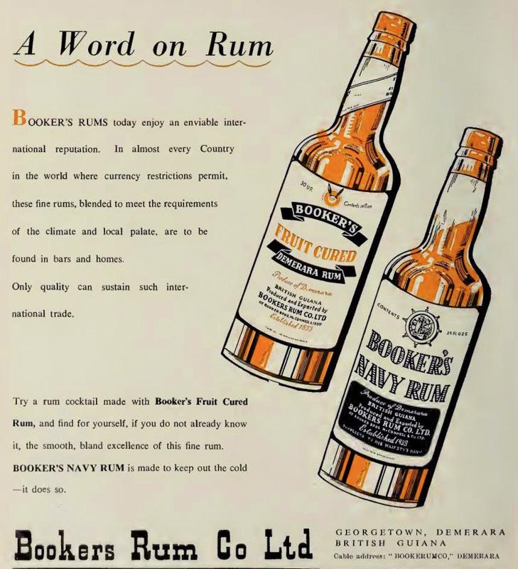 Booker's Demerara Rum bottles
