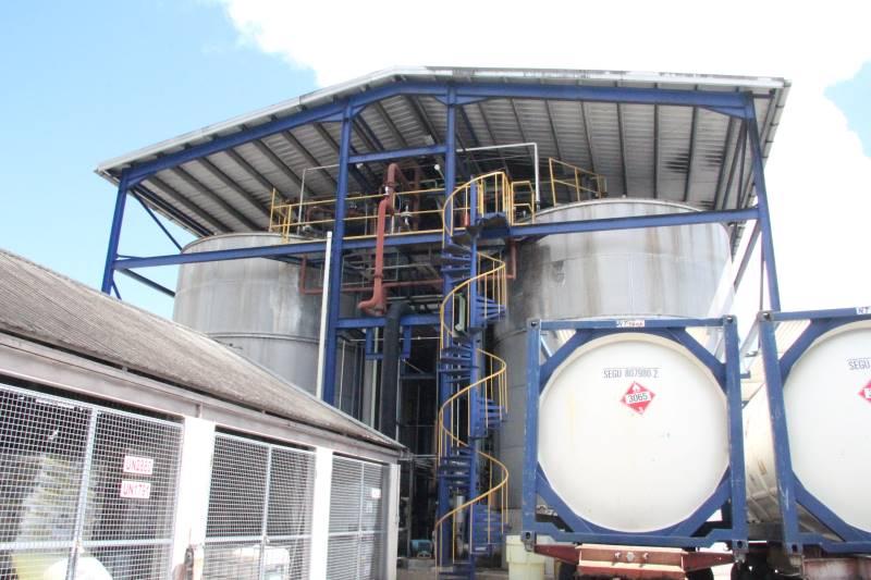 Fermentation tanks, West Indies Rum Distillery, Barbados