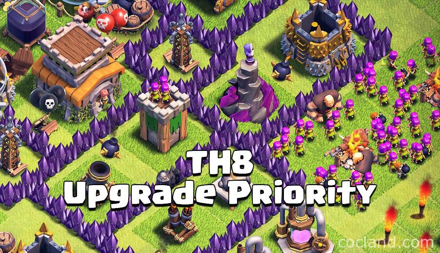 TH8 Upgrade Priority Guide