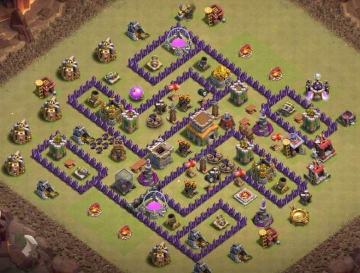 BASE WAR TH 8 TERBAIK