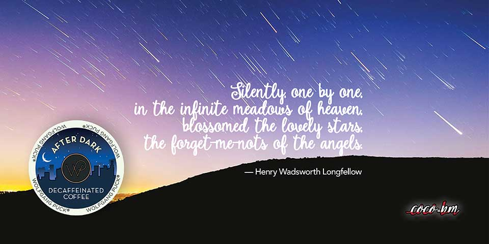 Unsplash night sky Wolfgang Puck After Dark Longfellow Quote