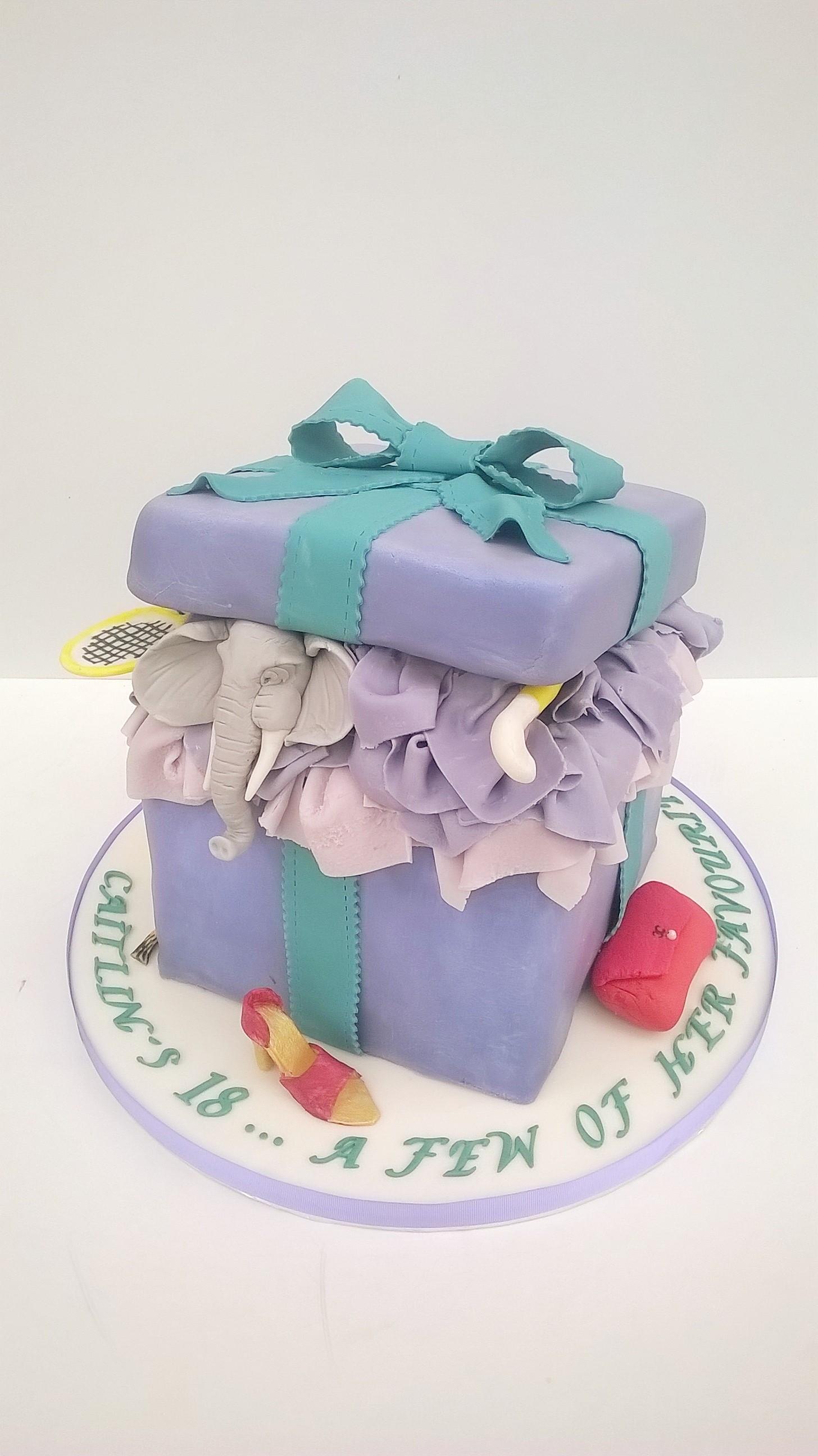 Parcel party cake