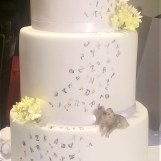 Primrose, Dog Daisy & Letters Birthday Cake by Cocoa & Whey Cakes in Winchester