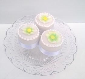 Wedding Favours - white wedding mini cakes
