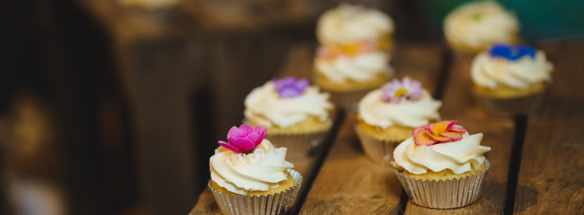 Floral Fairy Cupcakes and Edible Flowers with Photo Courtesy of Michael at Jackson Photography