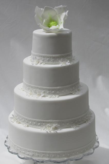 Sugar Magnolia Wedding Cake