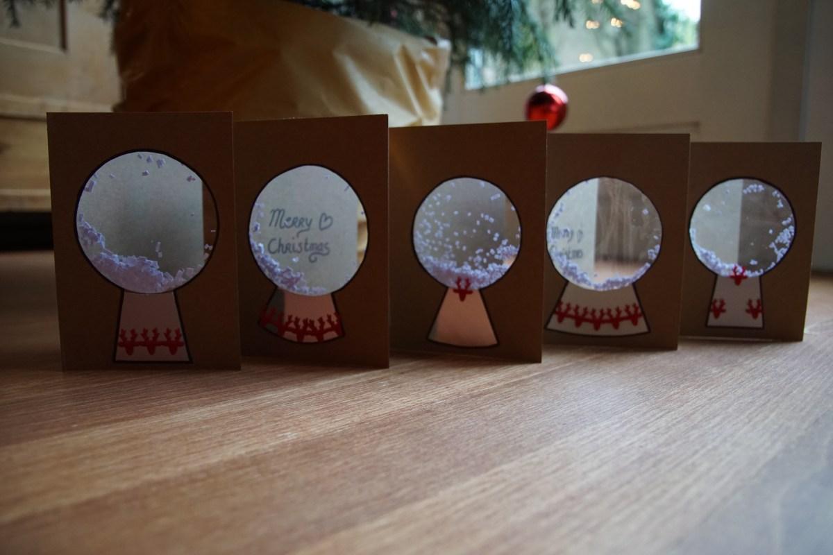 DIY Hand Made Snow Globe Christmas Cards