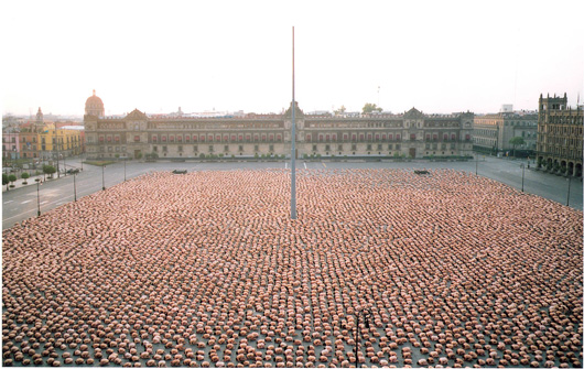 Spencer Tunick en Mexico Toma final