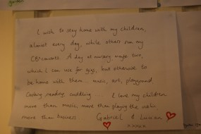 I wrote this after our day in the park for Matilda Mae. I never meant anyone to see it, but left it on the piano & my husband saw it and called it my 'manifesto' so I shed my embarrassment and stuck it to the fridge!