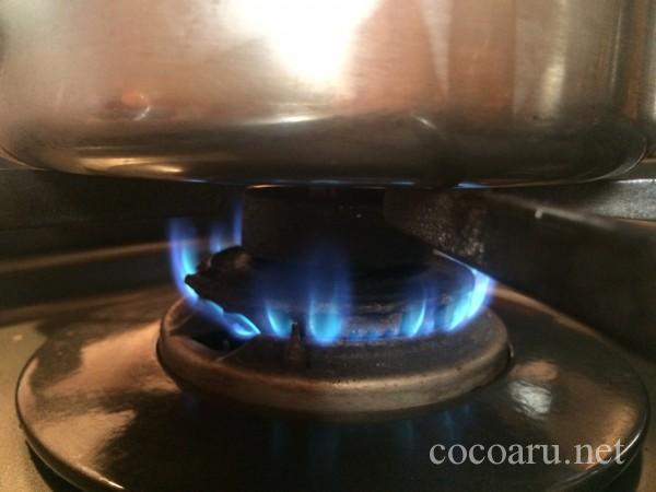 ガスコンロの火加減(酒粕甘酒)