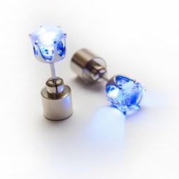 LED auskari (zili)