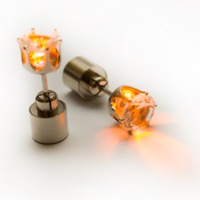 LED auskari (oranži)