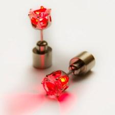 LED auskari (sarkani)